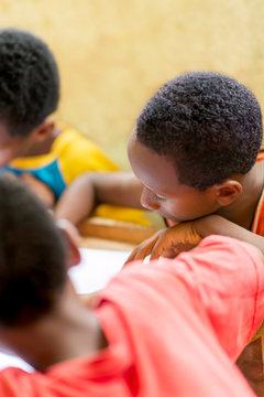 Boys in a classroom, African school