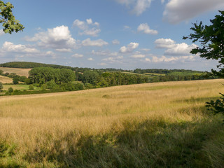 View of the Chess Valley in the Chiltern Hills of Hertfordshire
