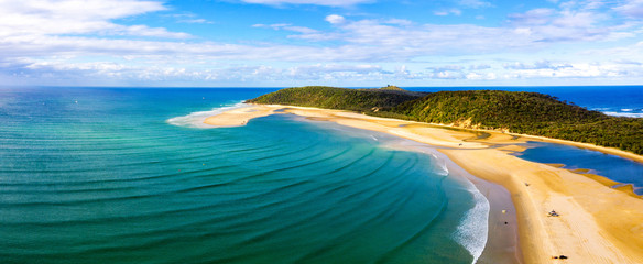 Panorama of Double Island point on the Queensland coast