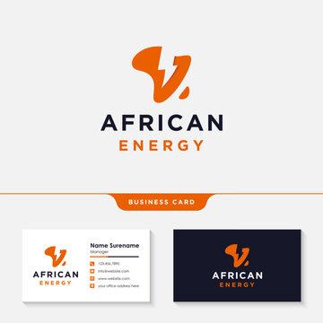 africa power energy logo design template vector