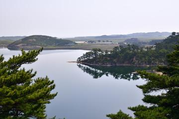 Samilpo lake landscape. North Korea