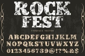abc 3d  font handcrafted typeface vector vintage named vintage rock fest