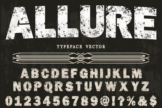 font handcrafted typeface vector vintage named vintage allure