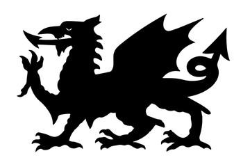 Welsh Black Dragon Vector illustration