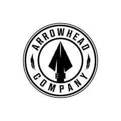 Spear, arrow / arrowhead badge vintage logo