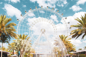 Ferris Wheel In Orlando Florida Icon Park Fotobehang