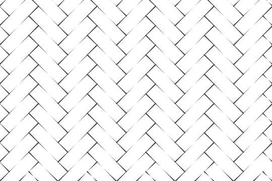 Abstract black herringbone parquet on white backdrop vector illustration