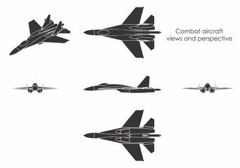 Combat aircraft colored.