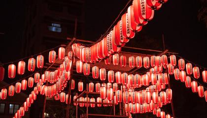 Japanese paper lanterns for festival 夏祭りの提灯