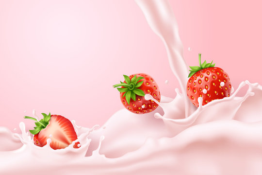 Splash strawberry milk