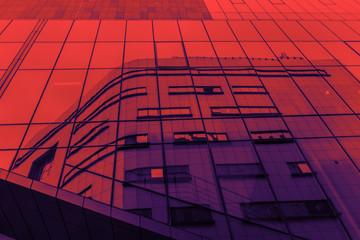 Fototapeten Rot kubanischen Modern architecture duo tone background
