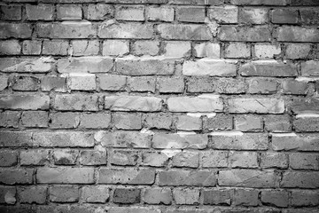 Brick wall background with space for your text and picture