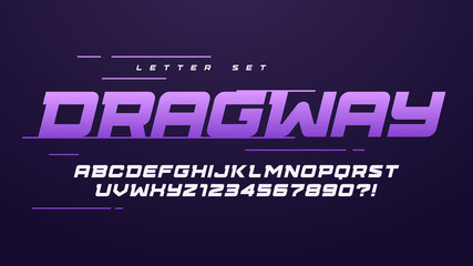 Trendy urban style sport vector alphabet, uppercase letter set, font, typography
