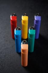 Lighters close up