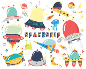 Outer space- Cute Spaceship Collections