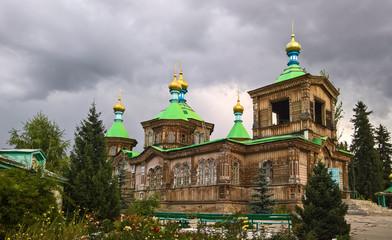 The Russian Orthodox Holy Trinity Cathedral Karakol, Kyrgyzstan