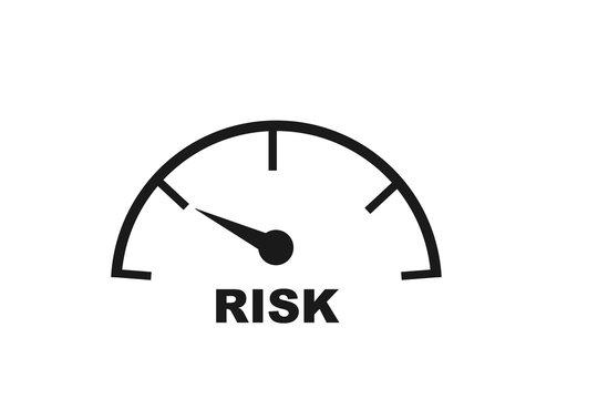 Modern Risk Management icon vector, symbolizing risk management