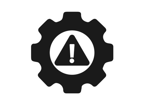 System error or service error icon vector on white background, problem solving icon