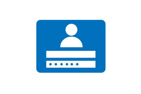 Customer,user or admin login system dashboard icon