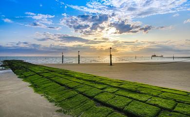 Foto op Aluminium Noordzee Norderney Insel Nordsee Reisen Kraft tanken Urlaub am Meer
