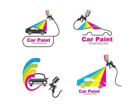 car paint logo icon illustration vector