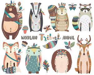 Cute Tribal Woodland Animal Elements