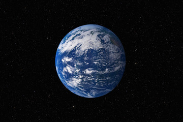 Poster Universe Planet Earth against dark starry sky background, elements of this image furnished by NASA