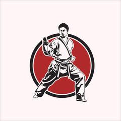 karate design logo vector