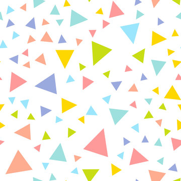 Colorful Repeating Triangle Confetti Background Pattern Vector