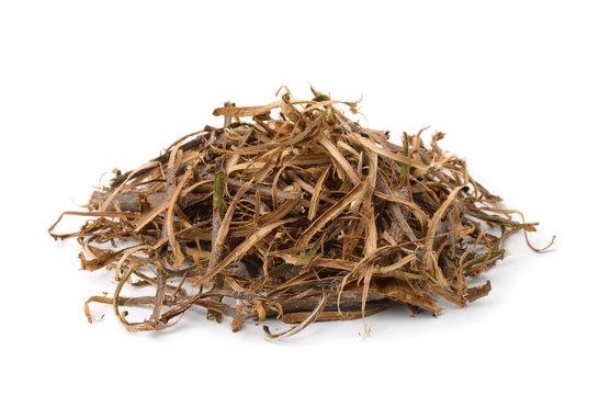 Pile of dried oak bark