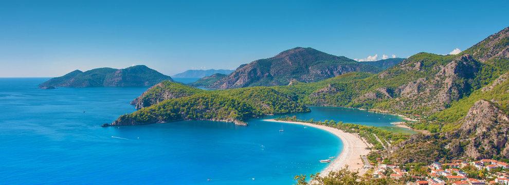 Oludeniz beach, sea and lagoon, Turkey