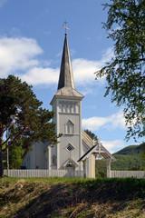 Die Kirche von Rognan in Norwegen