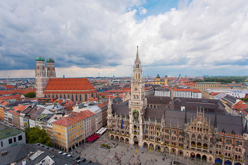 Marienplatz Munchen Munich city square Germany