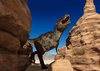 t rex the strongest dinosaur alone is the stone casual photo