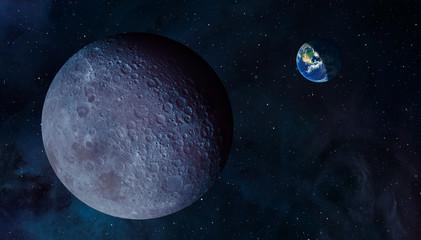 Fototapete - The Dark side of the moon