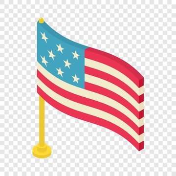 Flag icon. Isometric illustration of flag vector icon for web