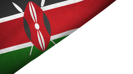 Kenya flag left side with blank copy space Wall mural