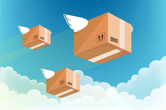 The fast service to sending products : air transportation