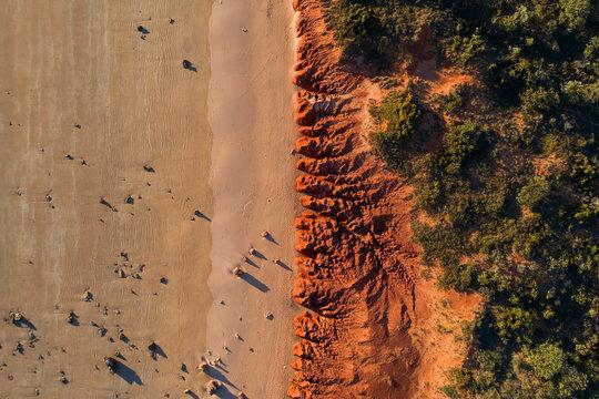 Western Australia Kimberley Pilbara Beach Aerial Red Dirt