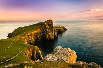 Tuinposter Kust Neist Point