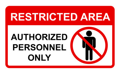 Vector Prohibited Sign Restricted Area Wall mural