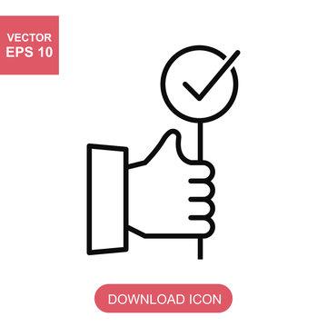 outline bid vector icon.