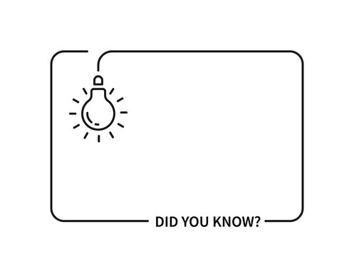 did you know with hanging bulb.