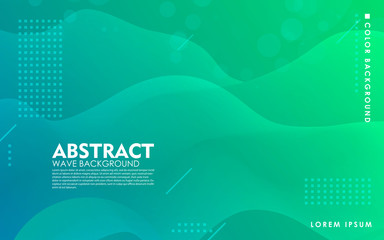 Tosca liquid color background. Dynamic textured geometric element design with dots decoration. Modern green and blue gradient light vector illustration.