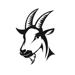 head goat front view drawing art logo design inspiration
