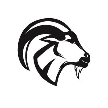 head goat drawing art logo design inspiration