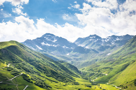 Mountain Range In Austrian Alps
