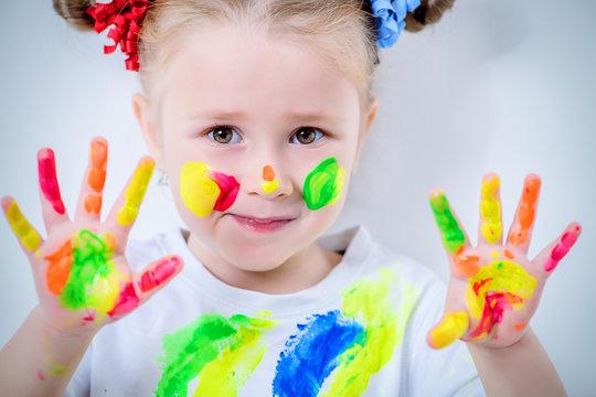 ten colorful fingers