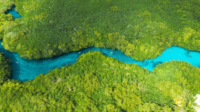 Aerial view of Casa Cenote in Tulum