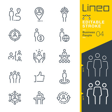 Lineo Editable Stroke - Business People line icons